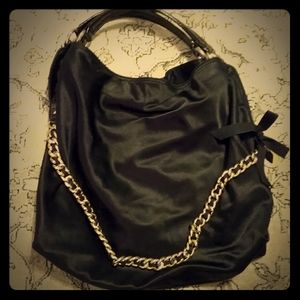Gianni Bini Black Satin Bag